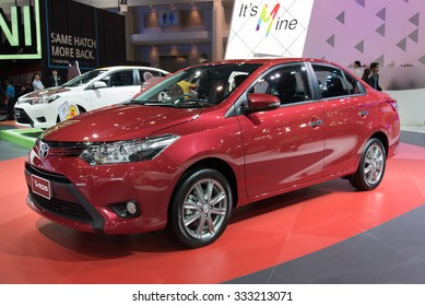 NONTHABURI, THAILAND - NOVEMBER 28: The TOYOTA New Vios is on display at the 31st Thailand International Motor Expo 2014 on November 28, 2014 in Nonthaburi, Thailand.