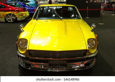 NONTHABURI THAILAND-JUNE 20 : Vintage car, Nissan Fairlady Z displayed at Bangkok International Auto Salon 2013 on June 20, 2013. The event exiting modified car showed in Nonthaburi, Thailand.