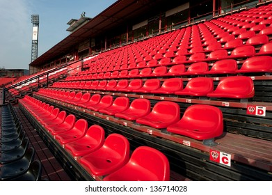 NONTHABURI THAILAND-MARCH 2:View of SCG Stadium  during before Thai Premier League  between SCG Muangthong Utd.and Army Utd.at SCG Stadium on Mar2,2013 in,Thailand