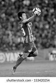 NONTHABURI THAILAND-Sep07:Jetsadakorn Hemdaeng of Chonburi Fc.in action during  Thai Premier League between SCG Muangthong Utd.VS Chonburi Fc.at SCG Stadium on Sep07,2013 in,Thailand