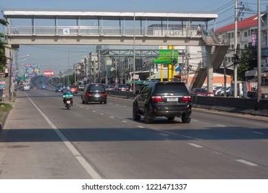 Nonthaburi-bang BUA thong road bridge 2018 October 14. Transportations Transportation in the country, Thailand