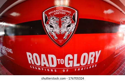 NONTHABURI-FEB 8:The home stadium of Muangthong United during football AFC Champions League 2014 between MTUTD and Hanoi T&T at SCG stadium on February8,2014 in Thailand