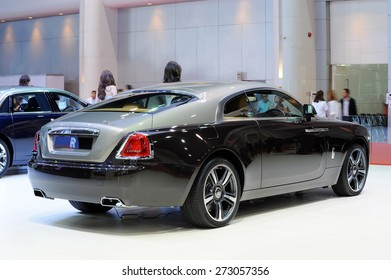 Nonthaburi,Thailand - APRIL 1, 2015: Rolls-Royce Motor car booth, showed in Thailand the 36th Bangkok International Motor Show on 01 APRIL  2015