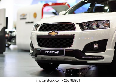 Nonthaburi,Thailand - March 24th, 2015: Chevrolet captiva ,showed in Thailand the 36th Bangkok International Motor Show on 24 March 2015