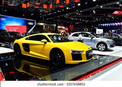 Nonthaburi,Thailand -  MARCH 28,2018:  New Audi R8 on display in the Bangkok International Motorshow 2018 at Impact Muang Thong Thani