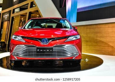 Nonthaburi,Thailand - November 28,2018 :All-New Toyota camry 2019 on display at at Motor Expo 35th IMPACT Arena, Muang Thong Thani