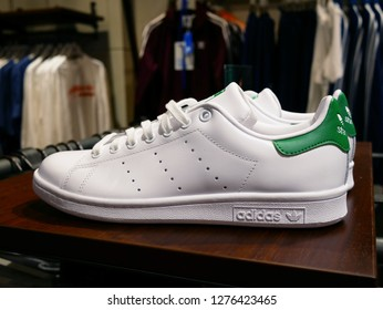 NONTHABURI,THAILAND-1 JANUARY 2019:Adidas sneaker in Adidas Brand Center shop at CentralPlazaWestGate.