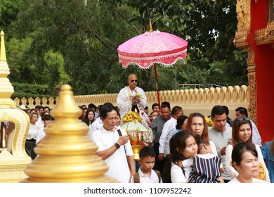 NONTHABURI-THAILAND-JANUARY 7 : The ordination of the Thai tradition of Buddhism in Thai temple, January 7, 2017 Nonthaburi Province, Thailand