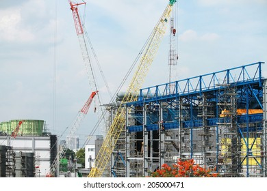 NONTHABURI-THAILAND-MAY 28 : Construction of EGAT's North Bangkok gas combine cycle power plant 800 MW on May 28, 2014 in Nonthaburi, Thailand.