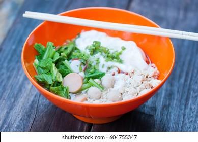 Noodle bowl and chopstick