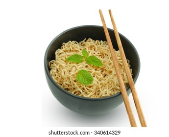 noodle in the bowl with chopstick on the top