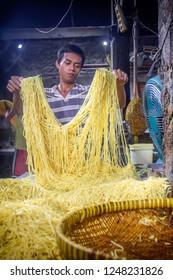 Noodle Factory in Bogor West Java, Indonesia. 01 June 2013