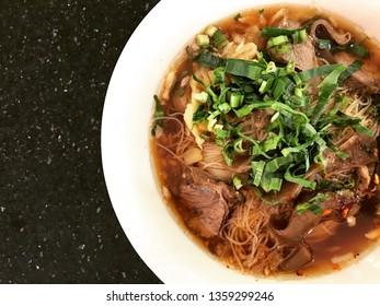 Noodle pork thai style