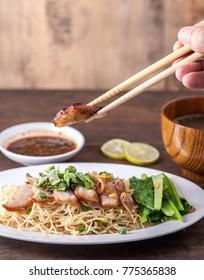 noodle with roast pork