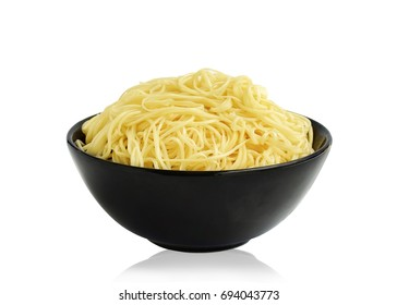 noodles in bowl  isolated on white background. This has clipping path.