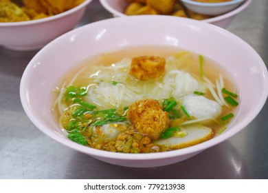 Noodles Fish Ball Thai Style