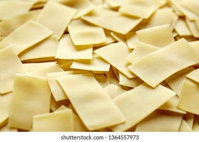 Noodles. Ingredient for cooking beshbarmak