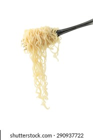 noodles isolated on white background with clipping path.