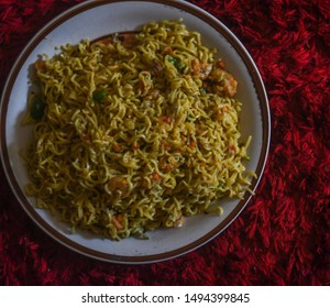 noodles made with shrimps, onions and pepper in Lagos, Nigeria
