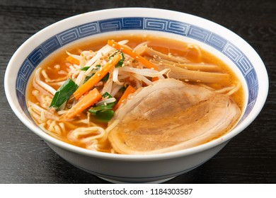 noodles in miso-based soup