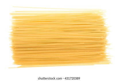 Noodles on a white background