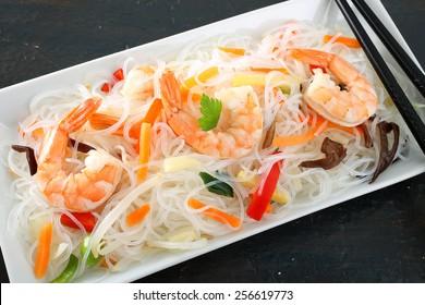 noodles with shrimp salad