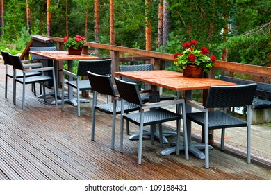 A nook of a forest cafe