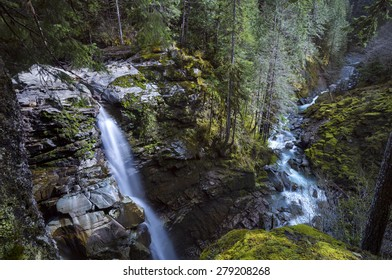 Nooksack Falls in the early spring, Washington State, USA