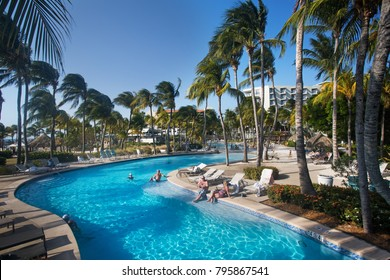 NOORD, Aruba  - April 28 2017 - Hilton Aruba Caribbean Resort & Casino