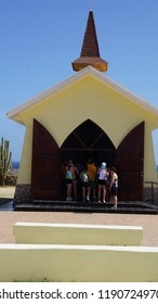 NOORD, ARUBA - NOV 26: Alto Vista Chapel in Aruba, on Nov 26, 2015. The present Chapel of Alto Vista was completed in 1952 and stands in the same location as the original.