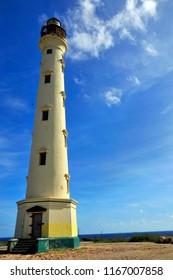 NOORD ARUBA NOVEMBER 01 2012: The California Lighthouse located on the West shore of the Dutch island of Aruba