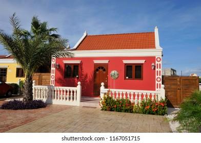 NOORD ARUBA NOVEMBER 01 2012: Typical caribbean house in Aruba Island