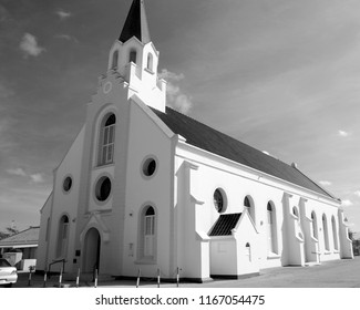 NOORD ARUBA NOVEMBER 01 2012: Originally built in 1776, the Santa Ana Church is known for its hand-carved oak altar in a Neo-Gothic style. Noord Aruba Island