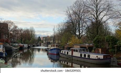 Noorderhaven in Groningen in autumn sunlight - Shutterstock ID 1865209501
