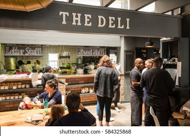 Noordhoek, South Africa - November 13, 2016: Inside The Deli of the Noordhoek Farm Village in South Africa where delicious fresh food is served in a nicely designed environment.