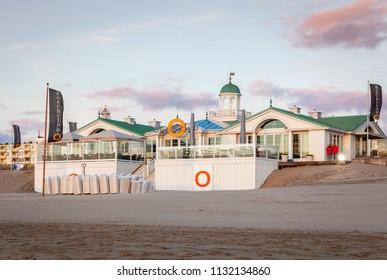 NOORDWIJK AAN ZEE, NETHERLANDS - APRIL 27, 2013: Beachclub O., Noordwijk aan Zee, Netherlands