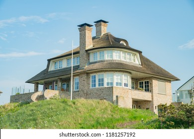Noordwijk, APR 22: Exterior view of Interesting house on APR 22, 2018 at Noordwijk, Netherlands