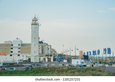 Noordwijk, APR 22: Exterior view of Lighthouse Noordwijk and cityscape on APR 22, 2018 at Noordwijk, Netherlands
