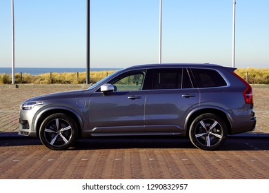 Noordwijk, the Netherlands - Januari 20, 2019: Volvo xc90 parked by the side of the road. Nobody in the vehicle.