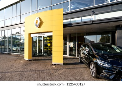 NOORDWIJK, THE NETHERLANDS - June 18, 2018: Renault dealer. Renault is known for its role in motor sport, particularly rallying, Formula 1 and Formula E.