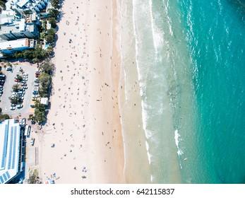 Noosa Beach Aerial Ocean Sand Queensland Australia