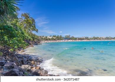 Noosa Heads main beach in Queensland
