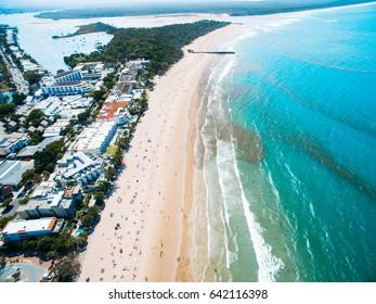 Noosa Main Beach Aerial Ocean Sand Queensland Australia