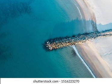 Noosa main beach at sunrise. beautiful beach a turquoise ocean perfect holiday destination