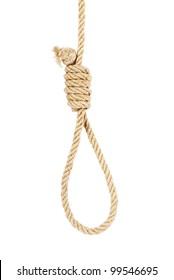 noose isolated on white background