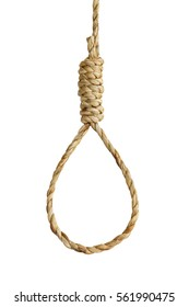 Noose rope isolated on white background with clipping path