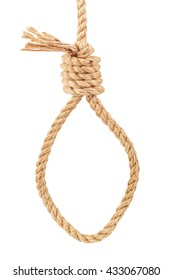 a noose of rope on white background