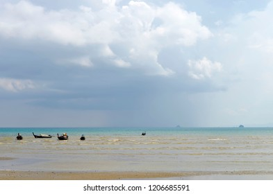 Nopparat Thara beach at low tide in Ao Nang, Thailand