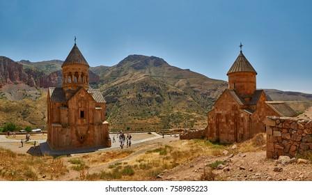 NORAVANK MONASTERY, ARMENIA - 02 AUGUST 2017: Famous Noravank Monastery Landmark in Syunik province of Armenia