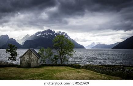 Nordfjord, close to Lote, western Norway.